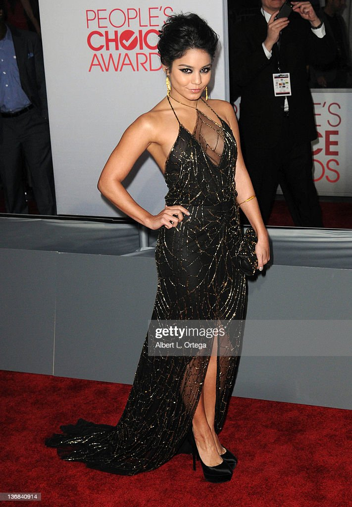 Actress Vanessa Hudgens arrives for the 2012 People's Choice Awards held at Nokia Theatre L.A. Live on January 11, 2012 in Los Angeles, California.