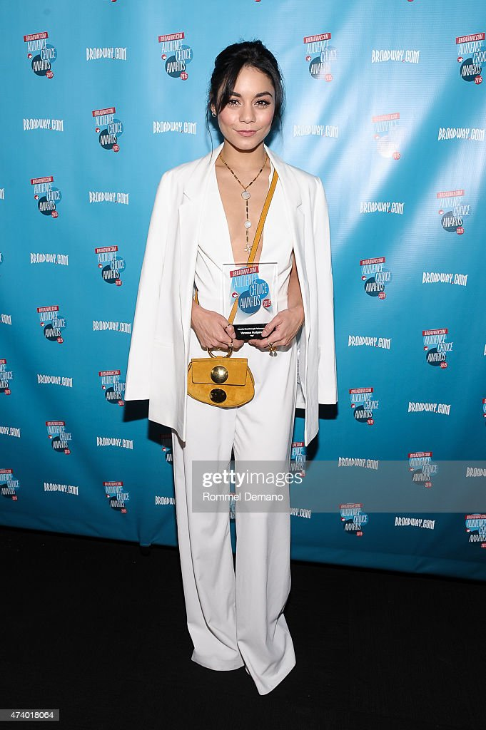 Actress Vanessa Hudgens attends Broadway.com Audience Choice Awards at Lounge 48 on May 19, 2015 in New York City.