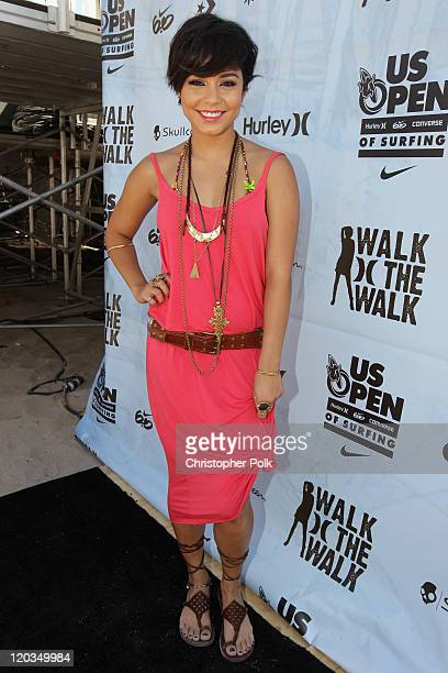 Actress Vanessa Hudgens attends the 2011 Hurley Walk the Walk National Championship at the US Open of Surfing at Huntington Beach on August 4 2011 in...
