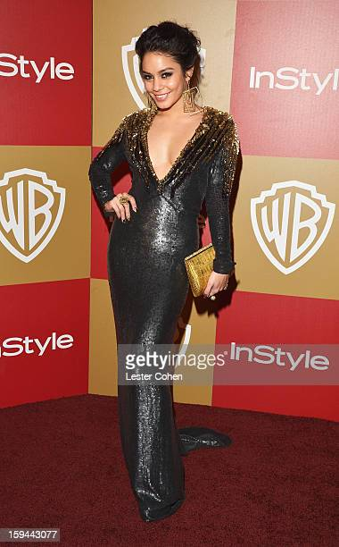 Actress Vanessa Hudgens attends the 2013 InStyle and Warner Bros 70th Annual Golden Globe Awards PostParty held at the Oasis Courtyard in The Beverly...