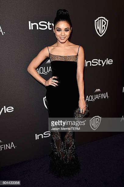 Actress Vanessa Hudgens attends The 2016 InStyle And Warner Bros 73rd Annual Golden Globe Awards PostParty at The Beverly Hilton Hotel on January 10...