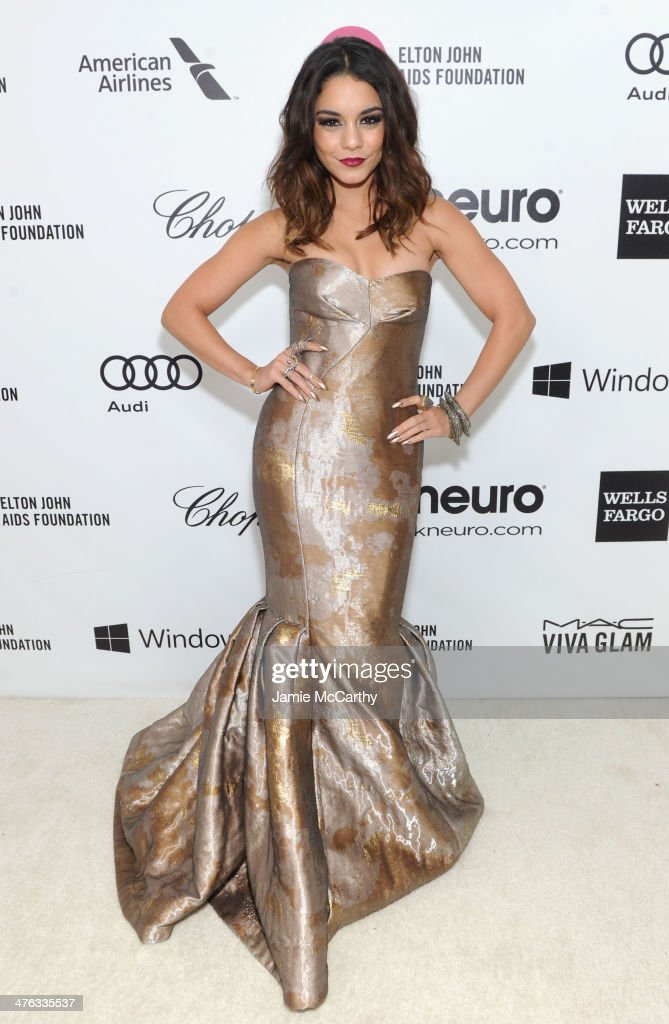 Actress Vanessa Hudgens attends the 22nd Annual Elton John AIDS Foundation Academy Awards Viewing Party at The City of West Hollywood Park on March 2, 2014 in West Hollywood, California.