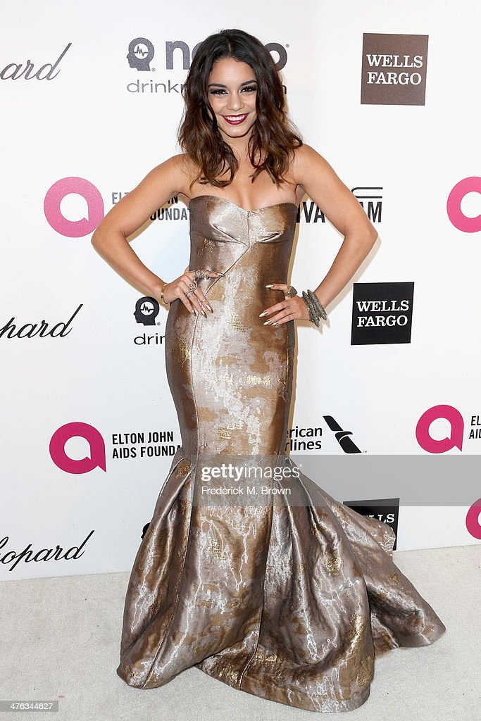 Actress Vanessa Hudgens attends the 22nd Annual Elton John AIDS Foundation's Oscar Viewing Party on March 2, 2014 in Los Angeles, California.