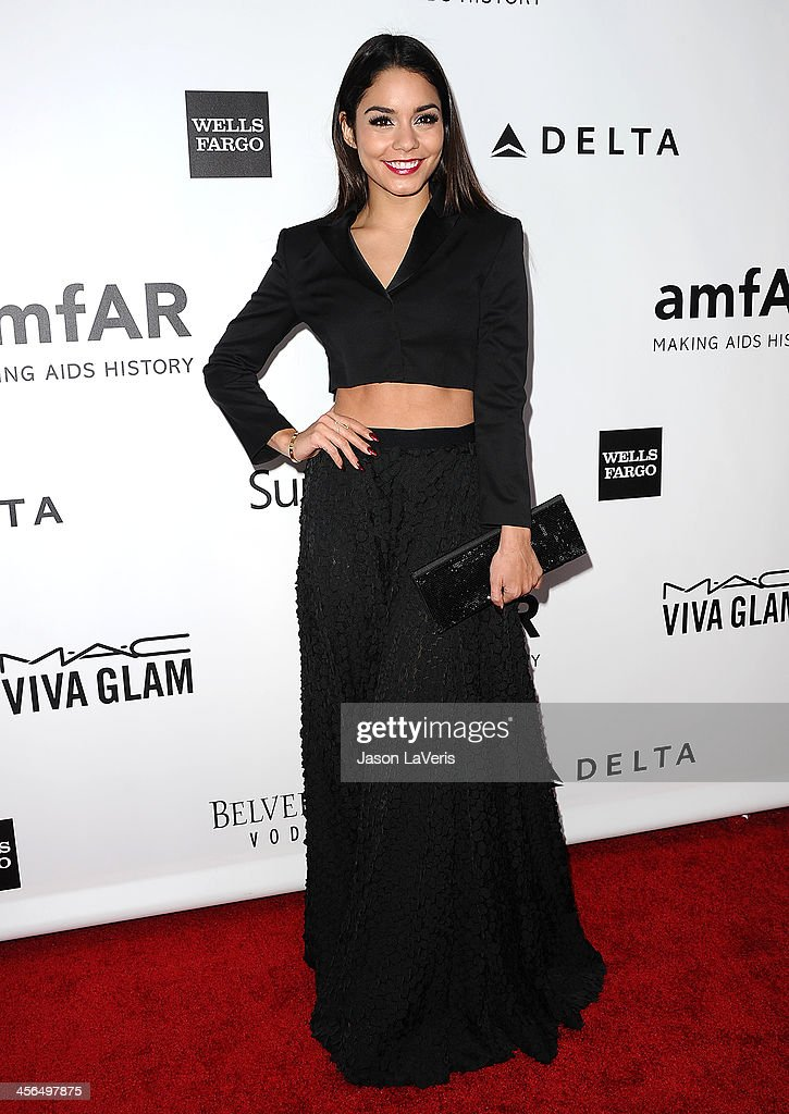 Actress Vanessa Hudgens attends the amfAR Inspiration Gala at Milk Studios on December 12, 2013 in Hollywood, California.