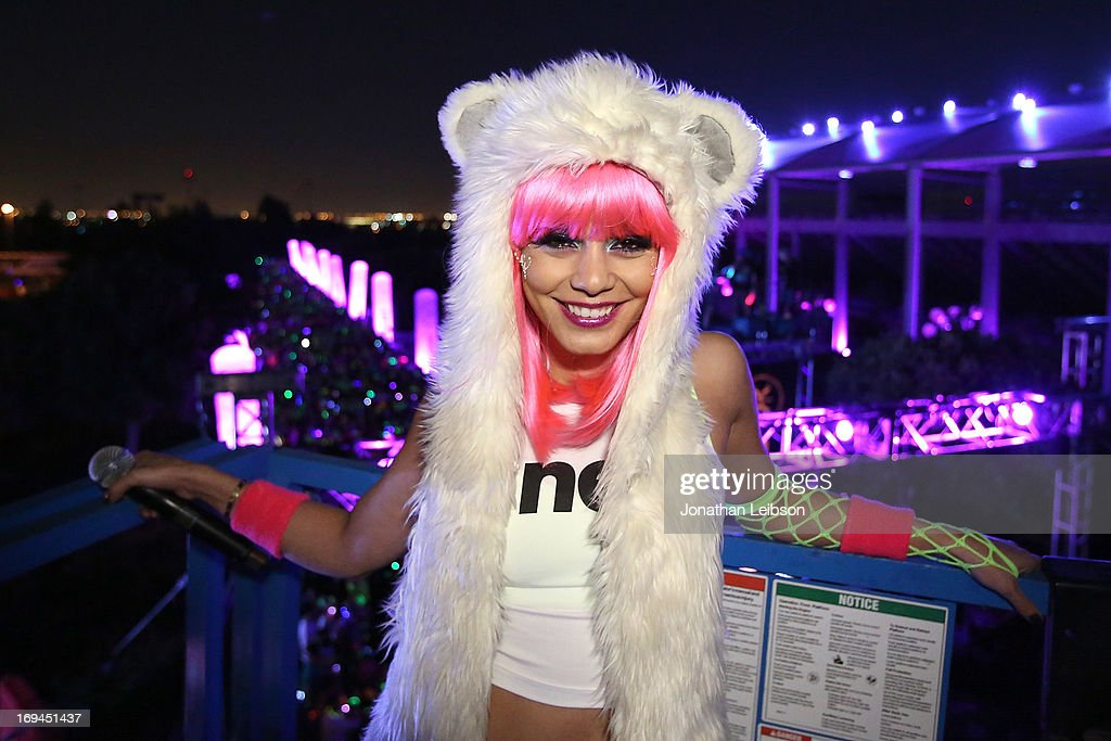 Actress Vanessa Hudgens attends the Electric Run Los Angeles at The Home Depot Center on May 24, 2013 in Carson, California.
