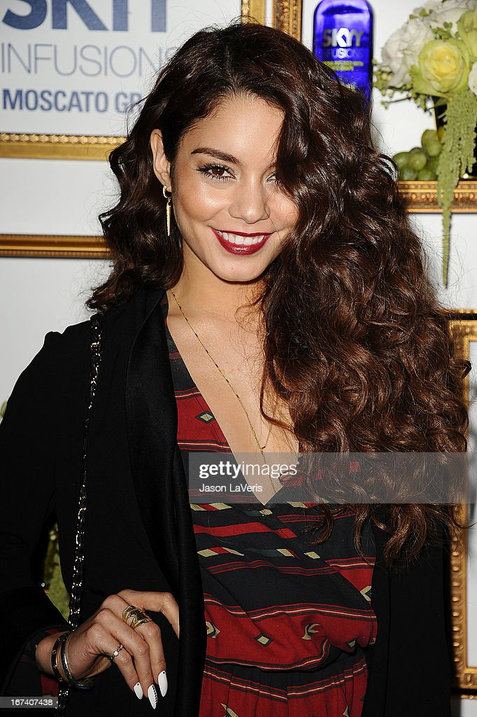 Actress Vanessa Hudgens attends the House Of Moscato launch party at Greystone Manor Supperclub on April 24, 2013 in West Hollywood, California.