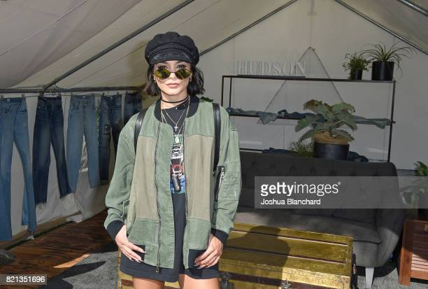 Actress Vanessa Hudgens attends the Hudson Jeans FYF Fest Style Lounge at Exposition Park on July 23 2017 in Los Angeles California