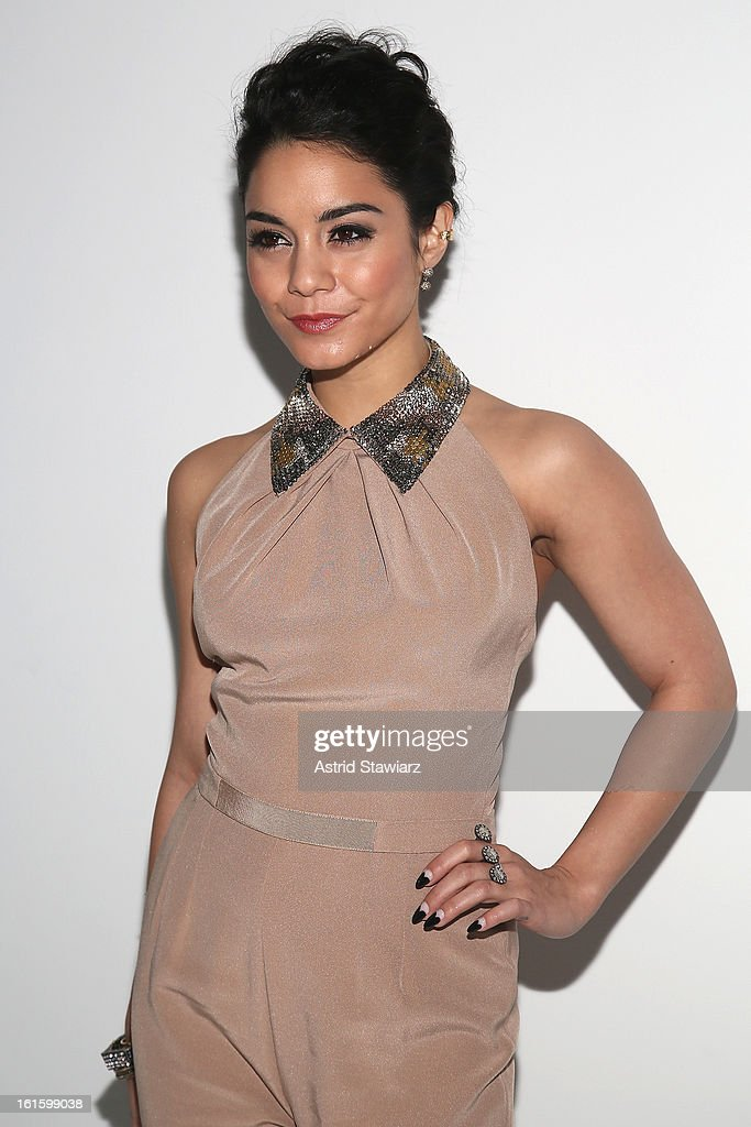 Actress Vanessa Hudgens attends the Jenny Packham Fall 2013 fashion show during Mercedes-Benz Fashion Week at The Studio at Lincoln Center on February 12, 2013 in New York City.