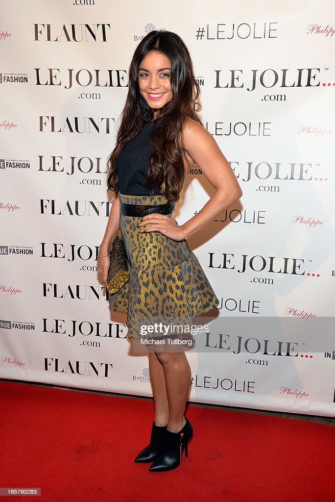 Actress Vanessa Hudgens attends the LeJolie.com launch party at No Vacancy on October 24, 2013 in Los Angeles, California.