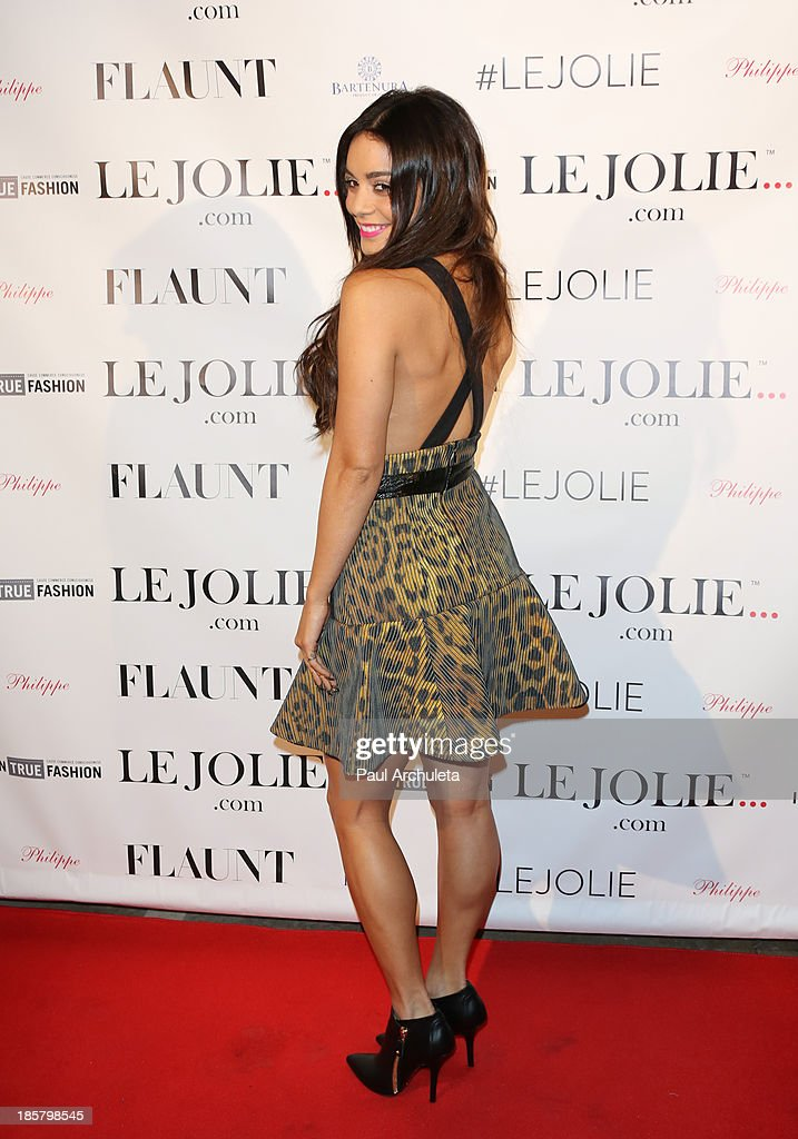 Actress Vanessa Hudgens attends the LeJolie.com launch party at No Vacancy Night Club on October 24, 2013 in Los Angeles, California.
