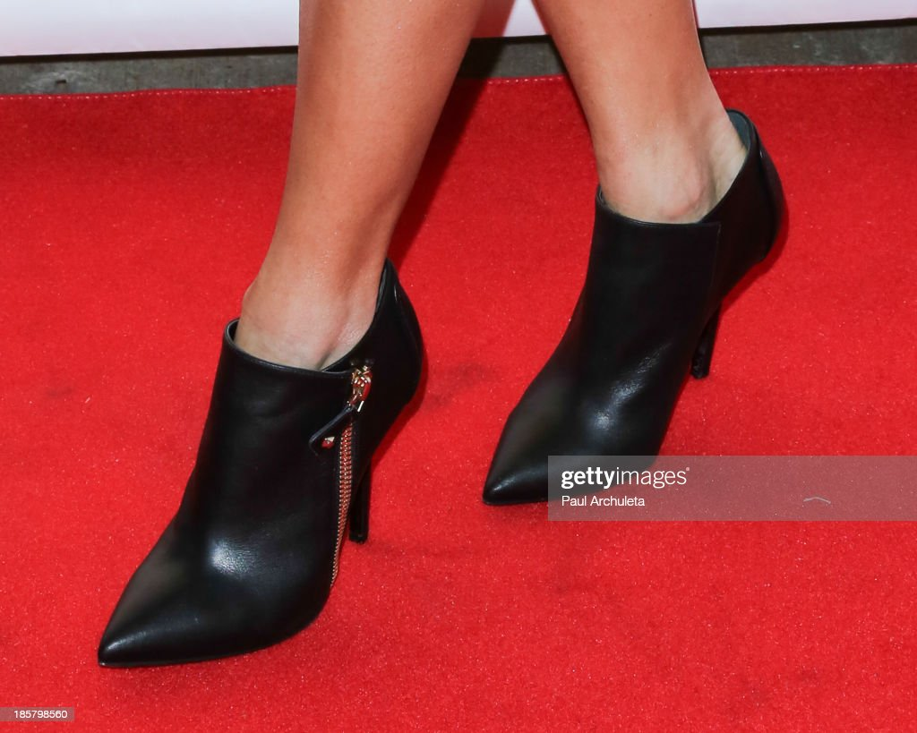 Actress Vanessa Hudgens (Shoe Detail) attends the LeJolie.com launch party at No Vacancy Night Club on October 24, 2013 in Los Angeles, California.
