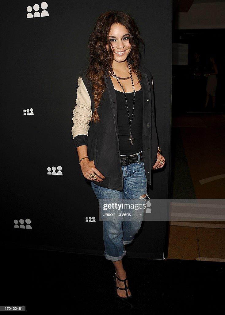 Actress Vanessa Hudgens attends the Myspace artist showcase event at El Rey Theatre on June 12, 2013 in Los Angeles, California.