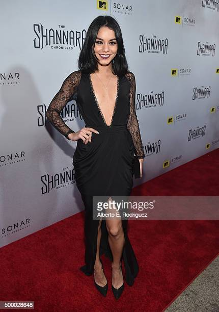 Actress Vanessa Hudgens attends the premiere of MTV and Sonar Entertainment's 'The Shannara Chronicles' at iPic Theaters on December 4 2015 in Los...