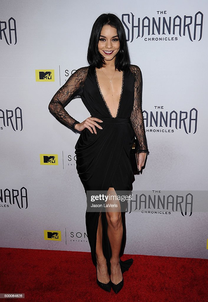 Actress Vanessa Hudgens attends the premiere of 'The Shannara Chronicles' at iPic Theaters on December 4 2015 in Los Angeles California