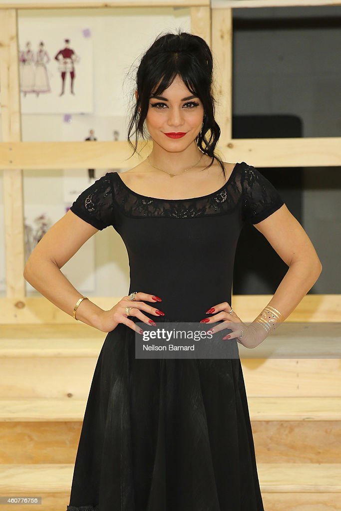 Actress Vanessa Hudgens attends the preview performance and press meet and greet of The New Broadway Production of Lerner and Loewes 'Gigi' at The...