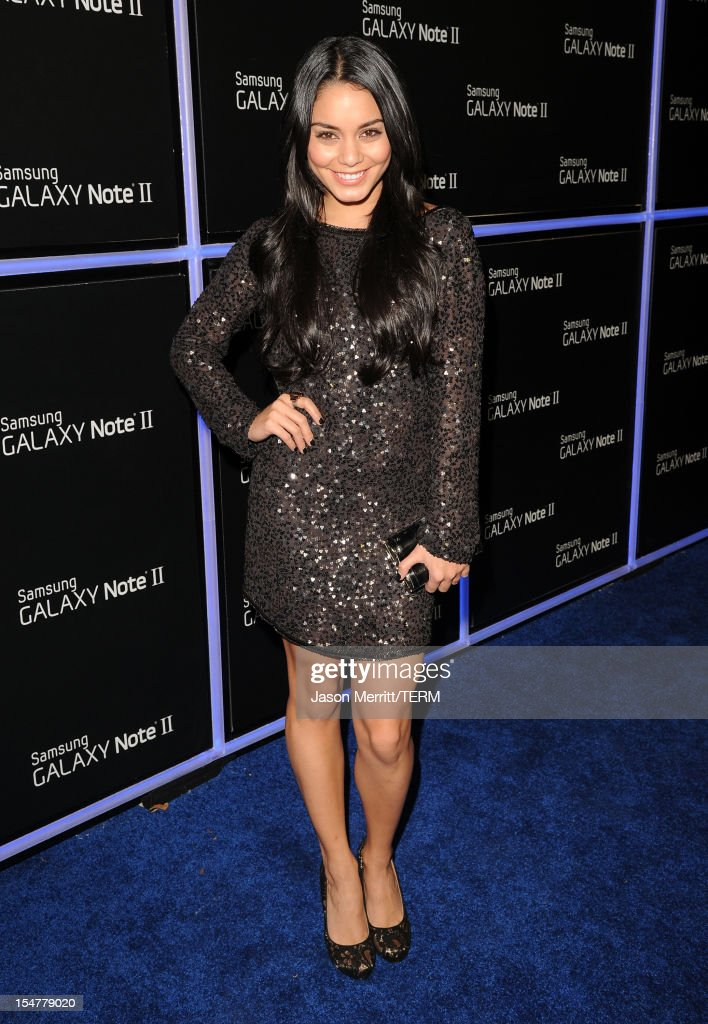 Actress Vanessa Hudgens attends the Samsung Galaxy Note II Beverly Hills Launch Party on October 25, 2012 in Los Angeles, California.