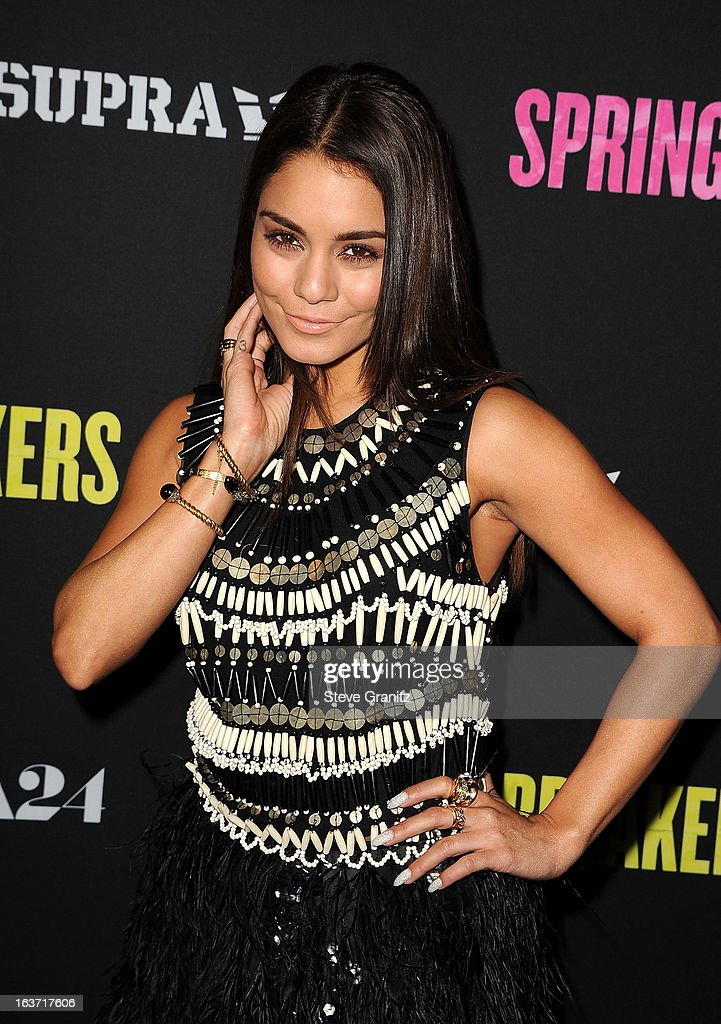 Actress Vanessa Hudgens attends the 'Spring Breakers' Los Angeles Premiere at ArcLight Hollywood on March 14, 2013 in Hollywood, California.