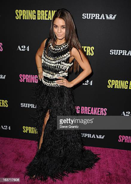 Actress Vanessa Hudgens attends the 'Spring Breakers' Los Angeles Premiere at ArcLight Hollywood on March 14 2013 in Hollywood California