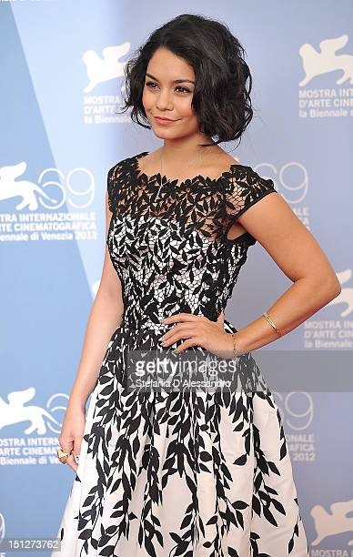 Actress Vanessa Hudgens attends the 'Spring Breakers' Photocall at the 69th Venice Film Festival on September 5 2012 in Venice Italy