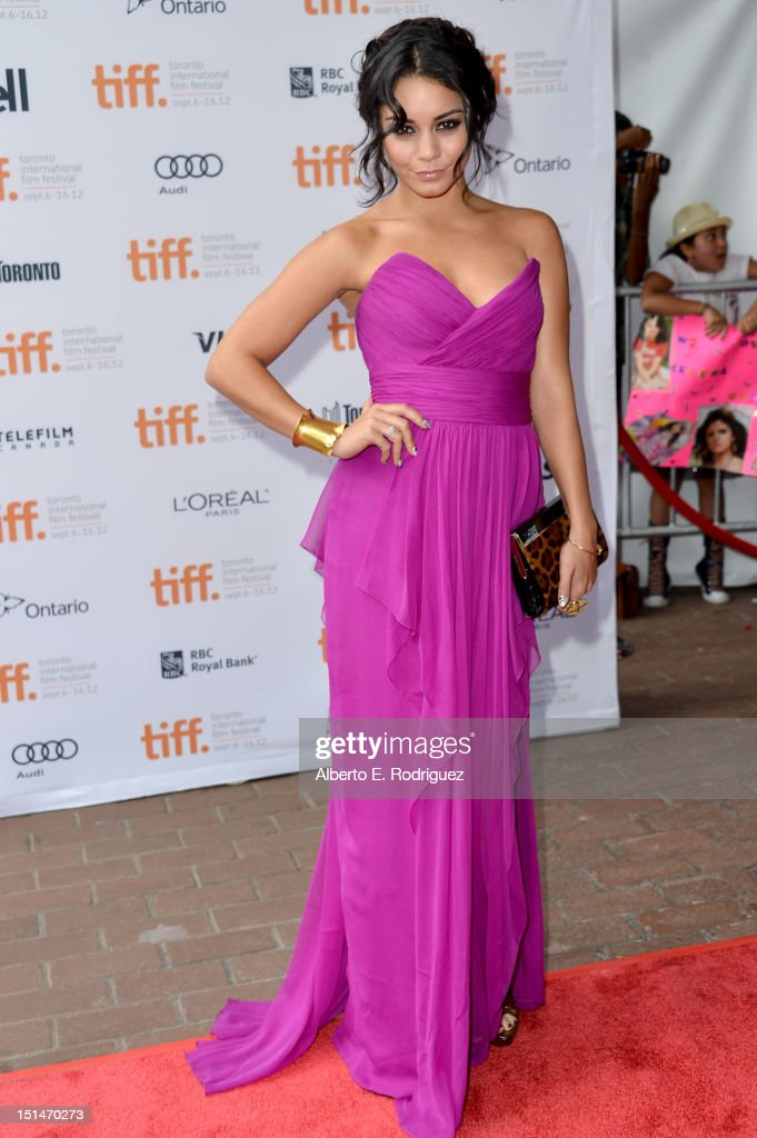 Actress Vanessa Hudgens attends the'Spring Breakers' premiere during the 2012 Toronto International Film Festival at Ryerson Theatre on September 7, 2012 in Toronto, Canada.