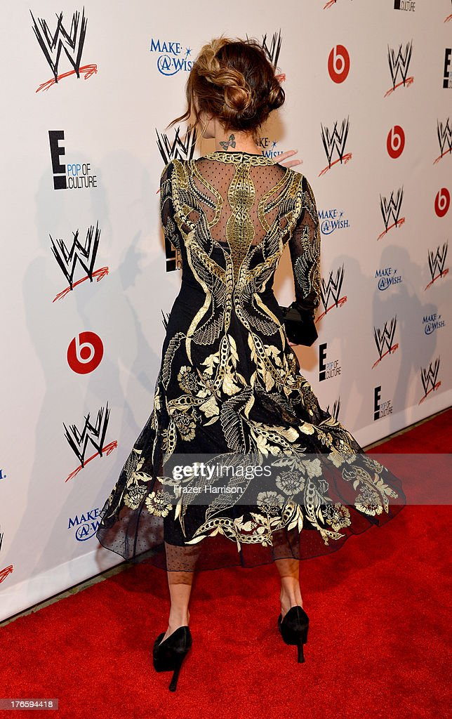 Actress Vanessa Hudgens attends WWE & E! Entertainment's 'SuperStars For Hope' at the Beverly Hills Hotel on August 15, 2013 in Beverly Hills, California.