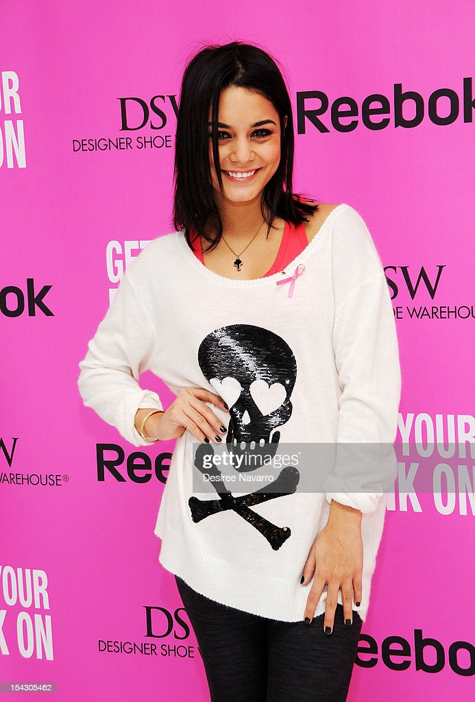 Actress Vanessa Hudgens hosts Reebok and DSW's pink-themed workout to celebrate Breast Cancer Awareness month at Studio 450 on October 17, 2012 in New York City.