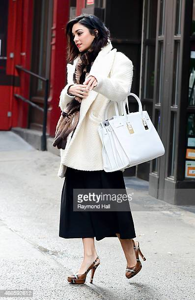 Actress Vanessa Hudgens is seen in Soho on March 17 2015 in New York City