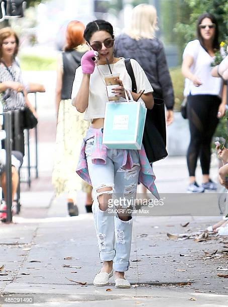 Actress Vanessa Hudgens is seen on August 26 2015 in Los Angeles California