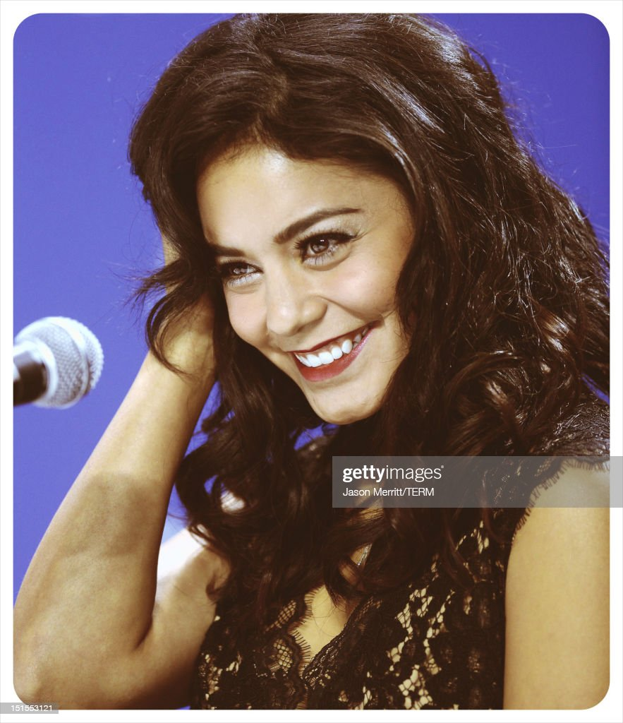 Actress Vanessa Hudgens speaks onstage at the 'Spring Breakers' press conference during the 2012 Toronto International Film Festival at TIFF Bell Lightbox on September 7, 2012 in Toronto, Canada.