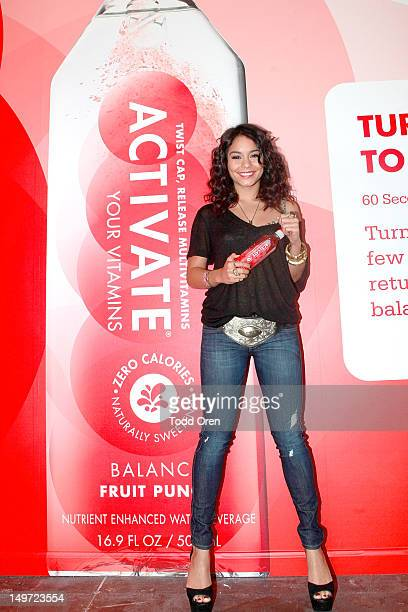 Actress Vanessa Hudgens stops by Activate Drinks Get Activated PopUp Shop on August 2 2012 in Venice California