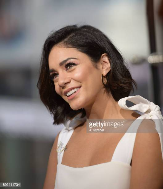 Actress Vanessa Hudgens visits Extra Studios at HM Times Square on June 21 2017 in New York City