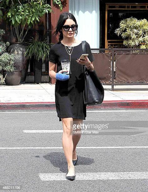 Actress Vanessa Hudgnes is seen on August 25 2015 in Los Angeles California