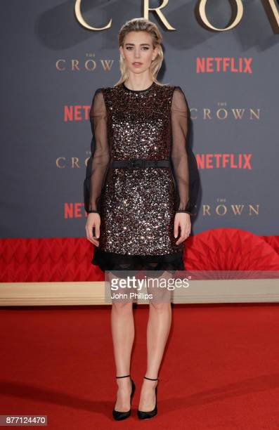 Actress Vanessa Kirby attends the World Premiere of season 2 of Netflix 'The Crown' at Odeon Leicester Square on November 21 2017 in London England