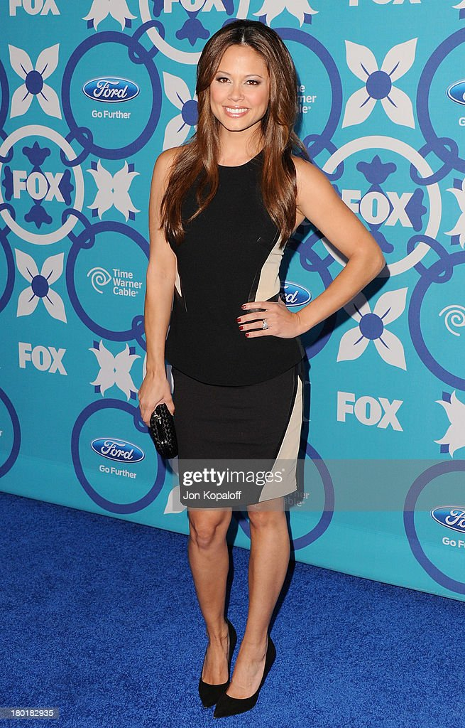 Actress Vanessa Lachey arrives at the 2013 Fox Fall Eco-Casino Party at The Bungalow on September 9, 2013 in Santa Monica, California.