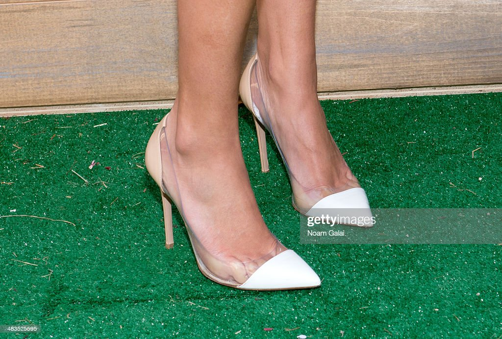 Actress Vanessa Lachey (shoe detail) attends 'Be A Farm Hero' at the Flatiron Pedestrian Plaza on April 9, 2014 in New York City.
