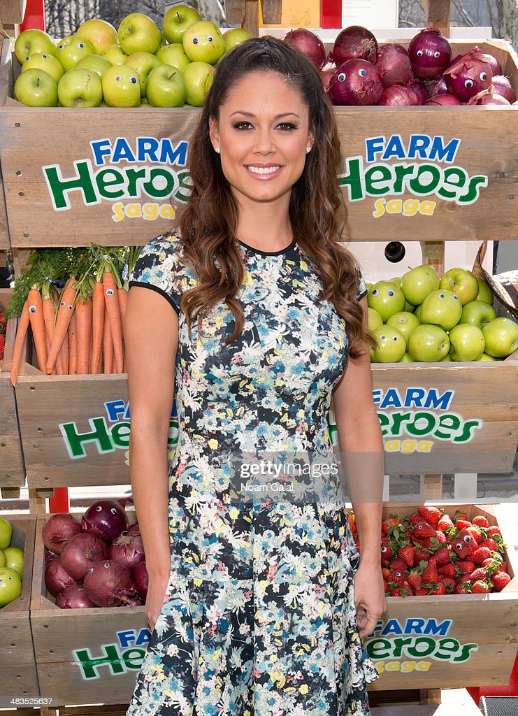 Actress Vanessa Lachey attends 'Be A Farm Hero' at the Flatiron Pedestrian Plaza on April 9, 2014 in New York City.