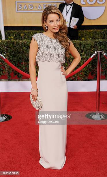 Actress Vanessa Lengies arrives at the 19th Annual Screen Actors Guild Awards at The Shrine Auditorium on January 27 2013 in Los Angeles California