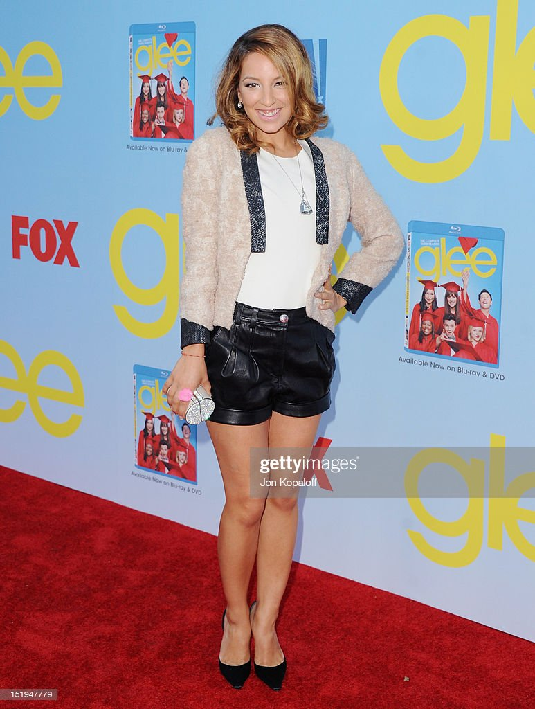 Actress Vanessa Lengies arrives at the 'Glee' Premiere at Paramount Studios on September 12, 2012 in Los Angeles, California.