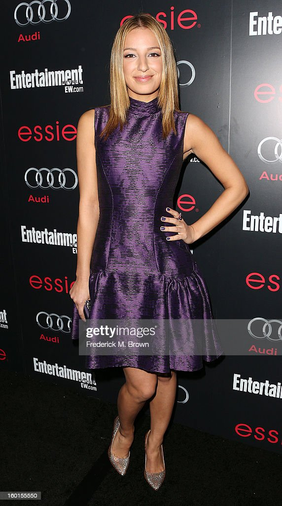 Actress Vanessa Lengies attends Entertainment Weekly Screen Actors Guild Awards Pre-Party at Chateau Marmont on January 26, 2013 in Los Angeles, California.