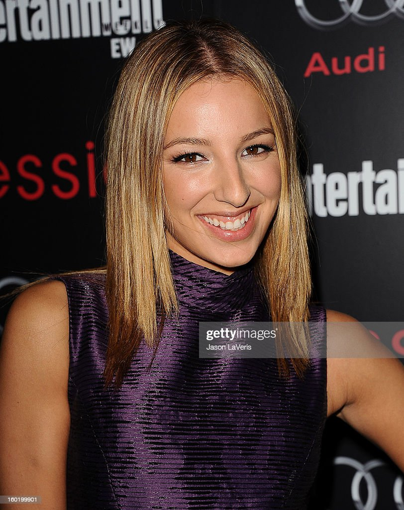 Actress Vanessa Lengies attends the Entertainment Weekly Screen Actors Guild Awards pre-party at Chateau Marmont on January 26, 2013 in Los Angeles, California.