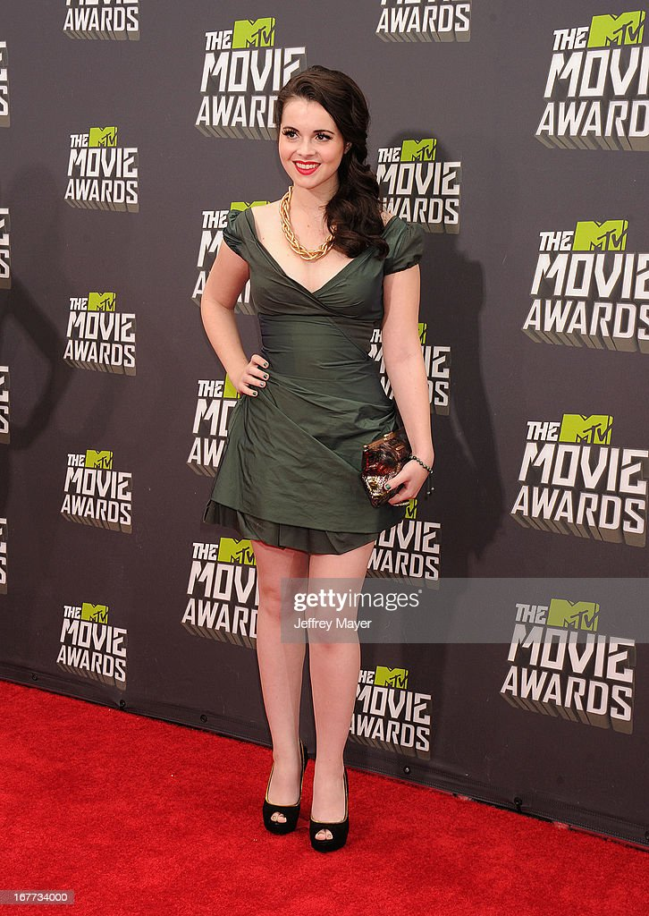 Actress Vanessa Marano arrives at the 2013 MTV Movie Awards at Sony Pictures Studios on April 14, 2013 in Culver City, California.