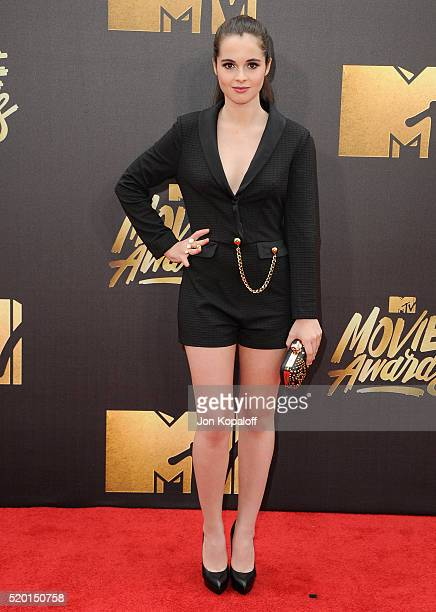Actress Vanessa Marano arrives at the 2016 MTV Movie Awards at Warner Bros Studios on April 9 2016 in Burbank California