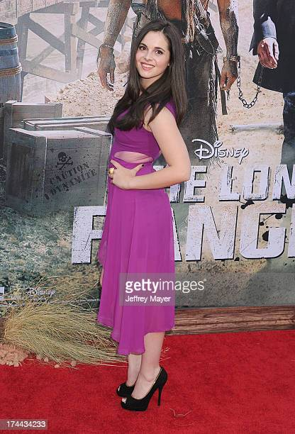 Actress Vanessa Marano arrives at 'The Lone Ranger' World Premiere at Disney's California Adventure on June 22 2013 in Anaheim California