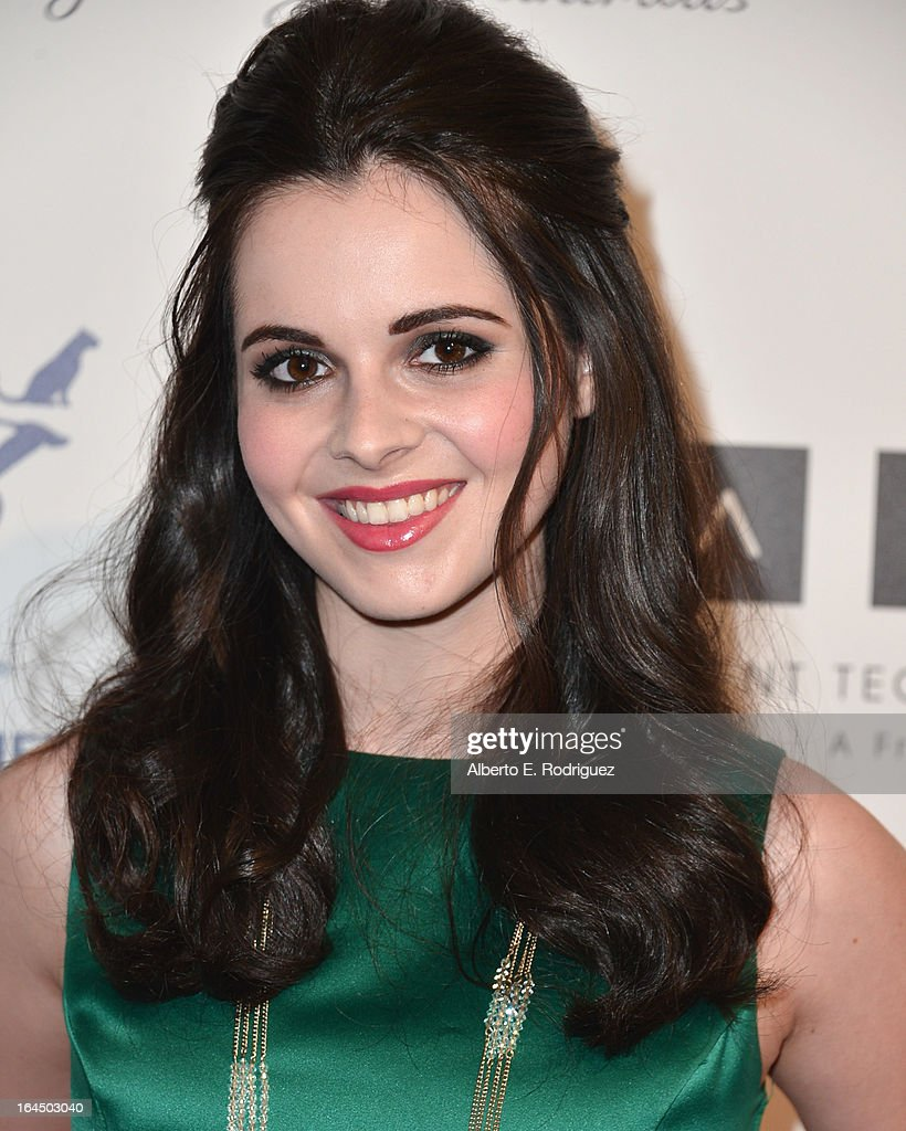 Actress Vanessa Marano arrives to the 2013 Genesis Awards Benefit Gala at The Beverly Hilton Hotel on March 23, 2013 in Beverly Hills, California.