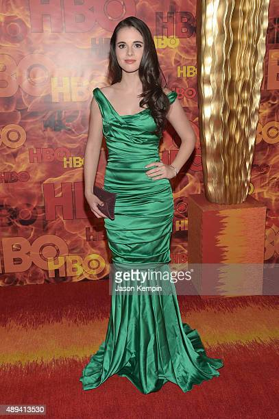 Actress Vanessa Marano attends HBO's Official 2015 Emmy After Party at The Plaza at the Pacific Design Center on September 20 2015 in Los Angeles...