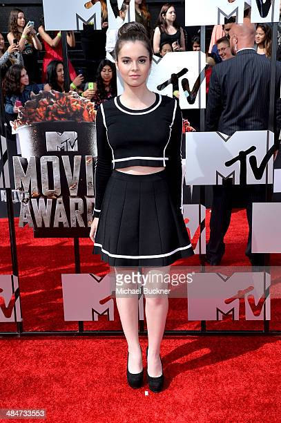 Actress Vanessa Marano attends the 2014 MTV Movie Awards at Nokia Theatre LA Live on April 13 2014 in Los Angeles California