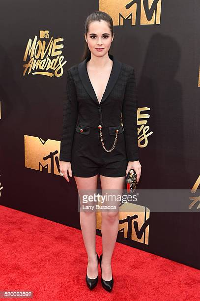 Actress Vanessa Marano attends the 2016 MTV Movie Awards at Warner Bros Studios on April 9 2016 in Burbank California MTV Movie Awards airs April 10...