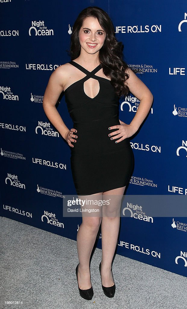 Actress Vanessa Marano attends The Life Rolls On Foundation's 9th Annual Night by the Ocean at the Ritz-Carlton Hotel on November 10, 2012 in Marina del Rey, California.