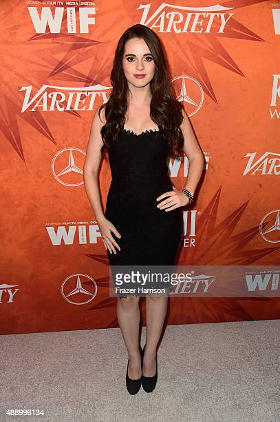 Actress Vanessa Marano attends the Variety and Women in Film Annual PreEmmy Celebration at Gracias Madre on September 18 2015 in West Hollywood...