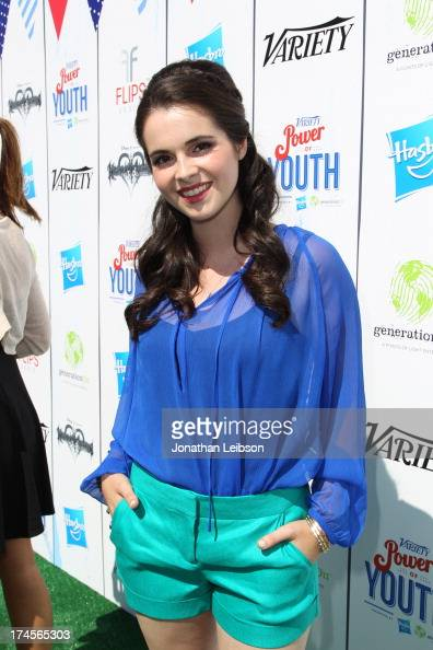 Actress Vanessa Marano attends Variety's Power of Youth presented by Hasbro Inc and generationOn at Universal Studios Backlot on July 27 2013 in...